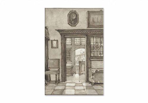 Binnenhuis 2 • staande afdruk op canvas