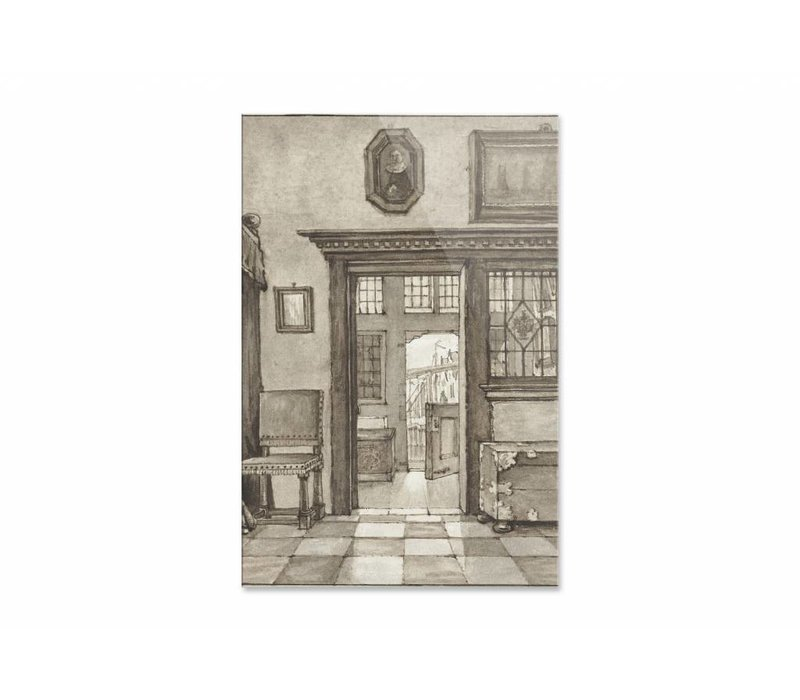 Binnenhuis 2 • staande afdruk op plexiglas