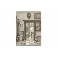 Binnenhuis 2 • staande afdruk op textiel