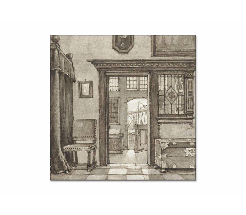 Binnenhuis 2 • vierkante afdruk op textiel