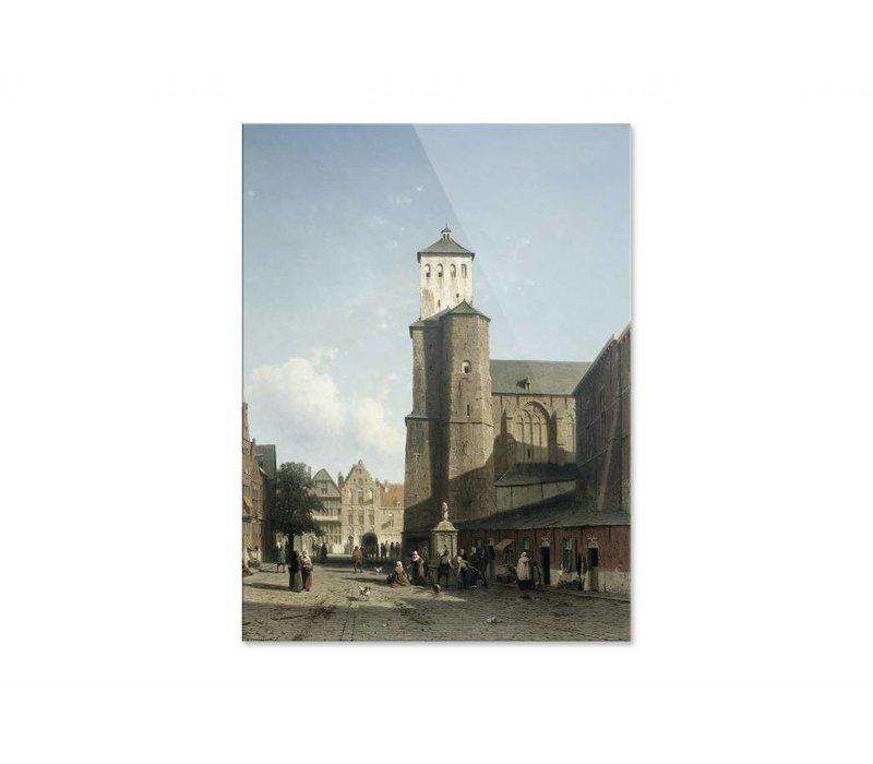 De kerk van St Denis te Luik • staande afdruk op plexiglas