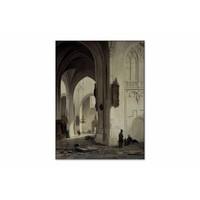 Kerkinterieur 1 • staande afdruk op textiel