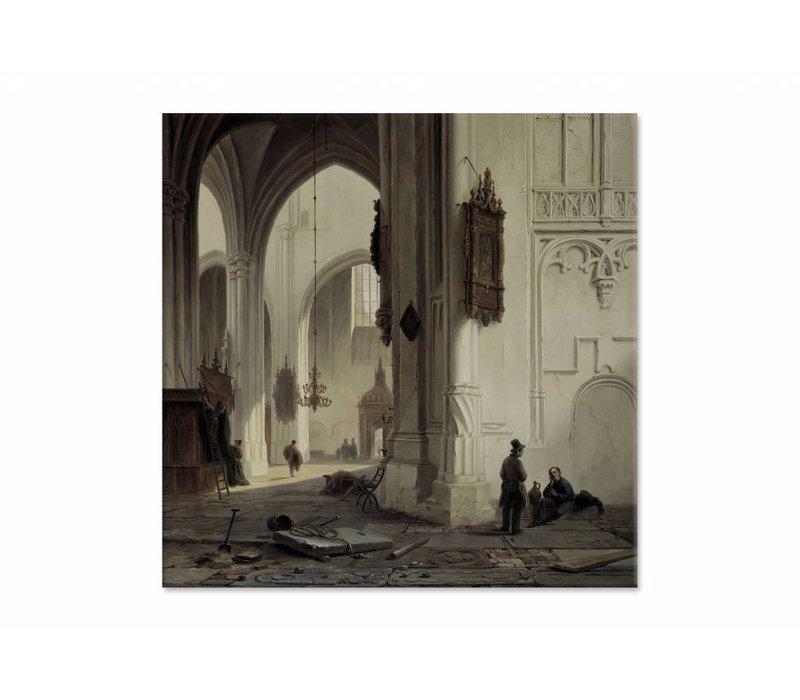Kerkinterieur 1 • vierkante afdruk op canvas