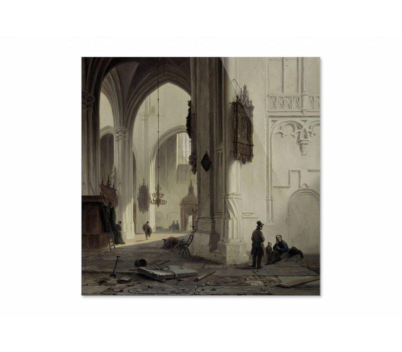 Kerkinterieur 1 • vierkante afdruk op plexiglas