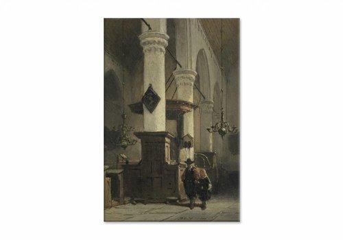 Kerkinterieur 2 • staande afdruk op canvas