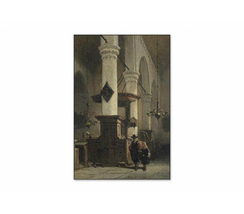 Kerkinterieur 2 • staande afdruk op textiel