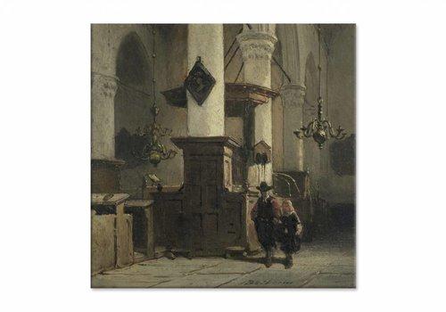 Kerkinterieur 2 • vierkante afdruk op canvas