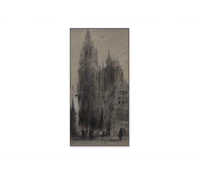 Onze Lieve Vrouwekathedraal van Antwerpen • staande afdruk op textiel