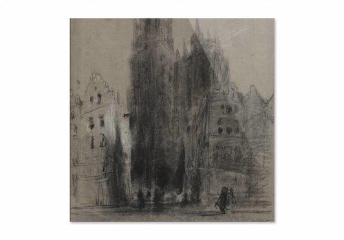 Onze Lieve Vrouwekathedraal van Antwerpen • vierkante afdruk op plexiglas