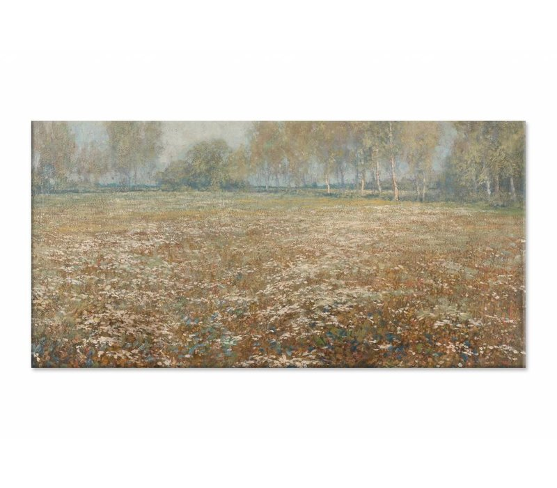Bloeiende weide • liggende afdruk op canvas