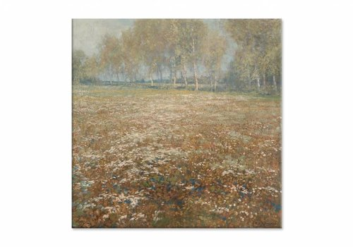 Bloeiende weide • vierkante afdruk op canvas