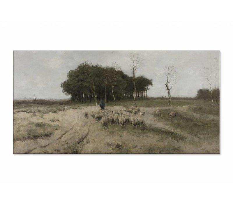 Heide bij Laren • liggende afdruk op canvas