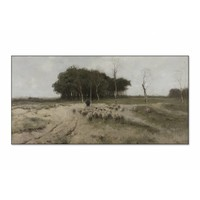 Heide bij Laren • liggende afdruk op textiel