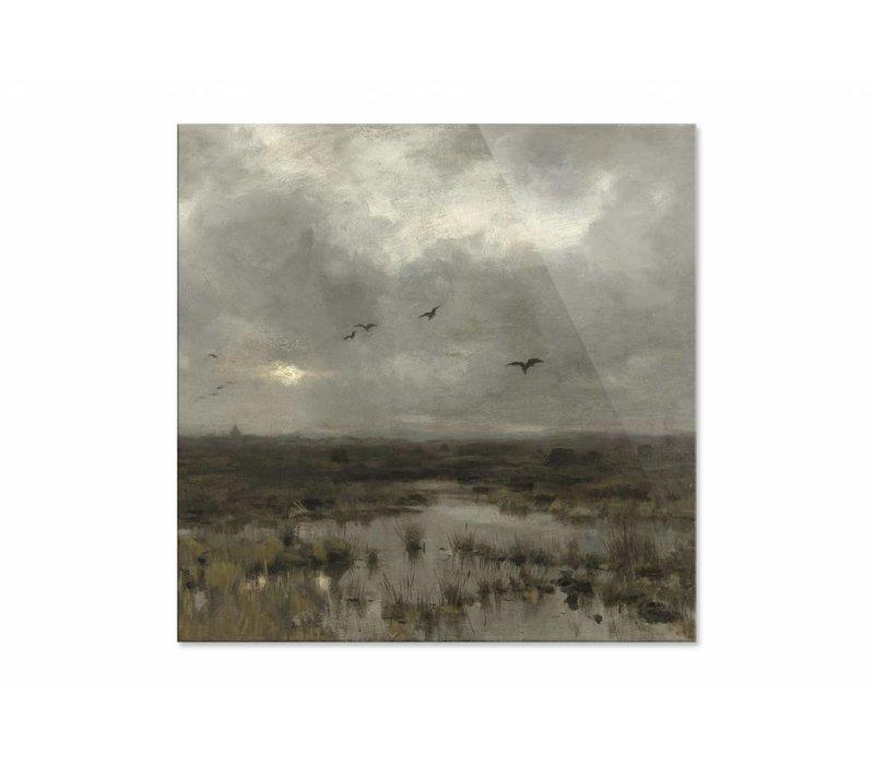 Het moeras • vierkante afdruk op plexiglas