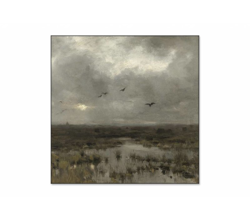 Het moeras • vierkante afdruk op textiel