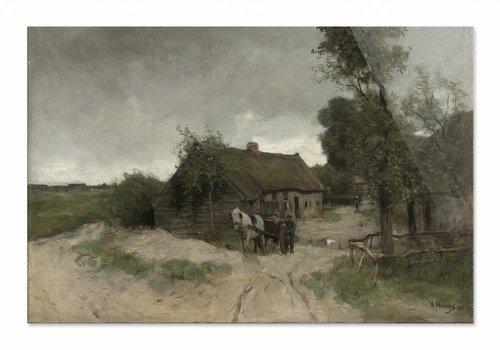 Huisje aan de zandweg • liggende afdruk op plexiglas