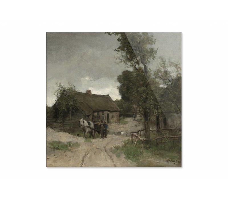 Huisje aan de zandweg • vierkante afdruk op plexiglas