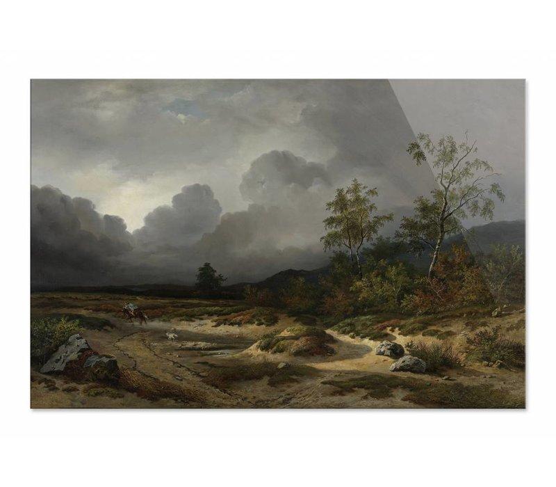 Landschap bij naderend onweer • liggende afdruk op plexiglas