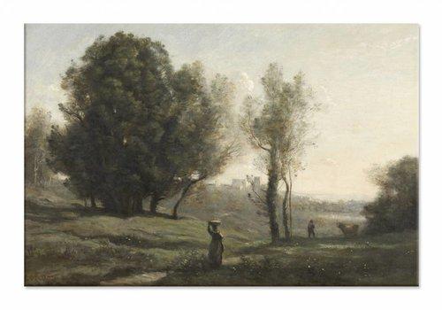 Landschap • liggende afdruk op canvas