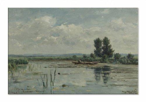 Plas bij Loosdrecht • liggende afdruk op canvas