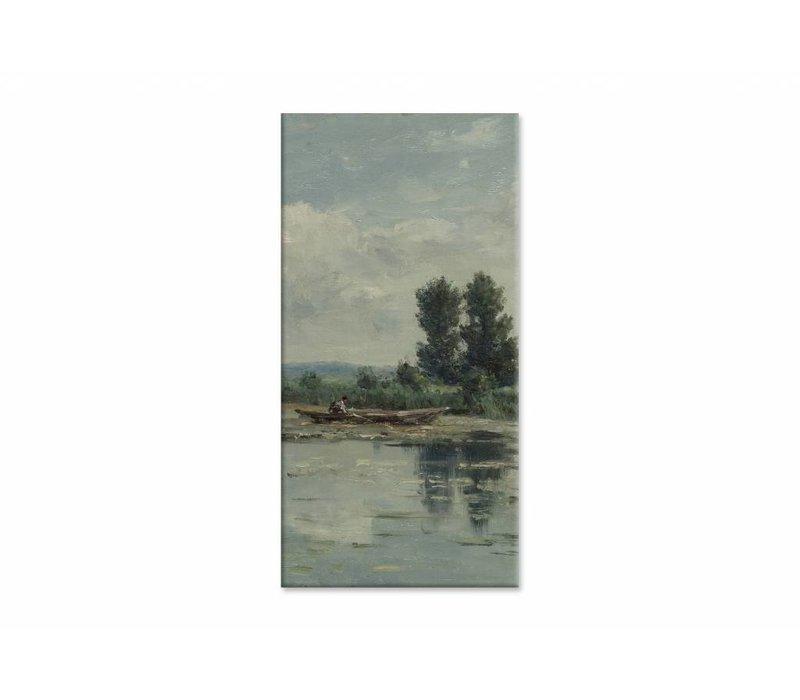 Plas bij Loosdrecht • staande afdruk op canvas
