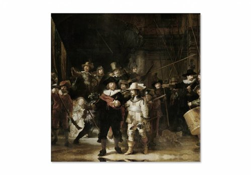 Nachtwacht • vierkante afdruk op canvas