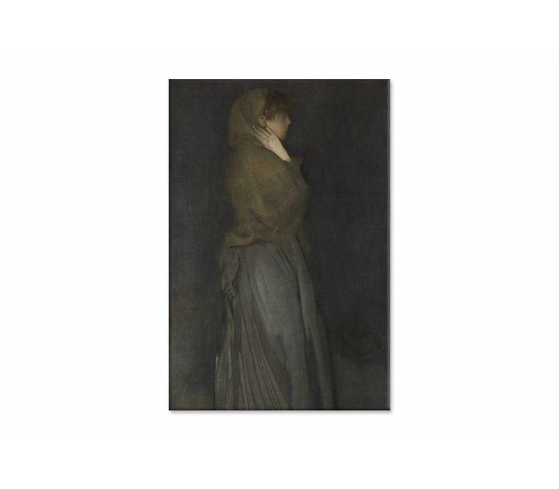 Arrangement in yellow and gray Effie deans • staande afdruk op canvas