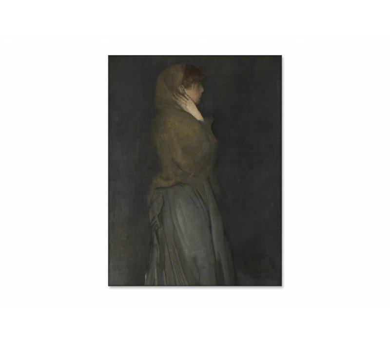 Arrangement in yellow and gray Effie deans • staande afdruk op textiel