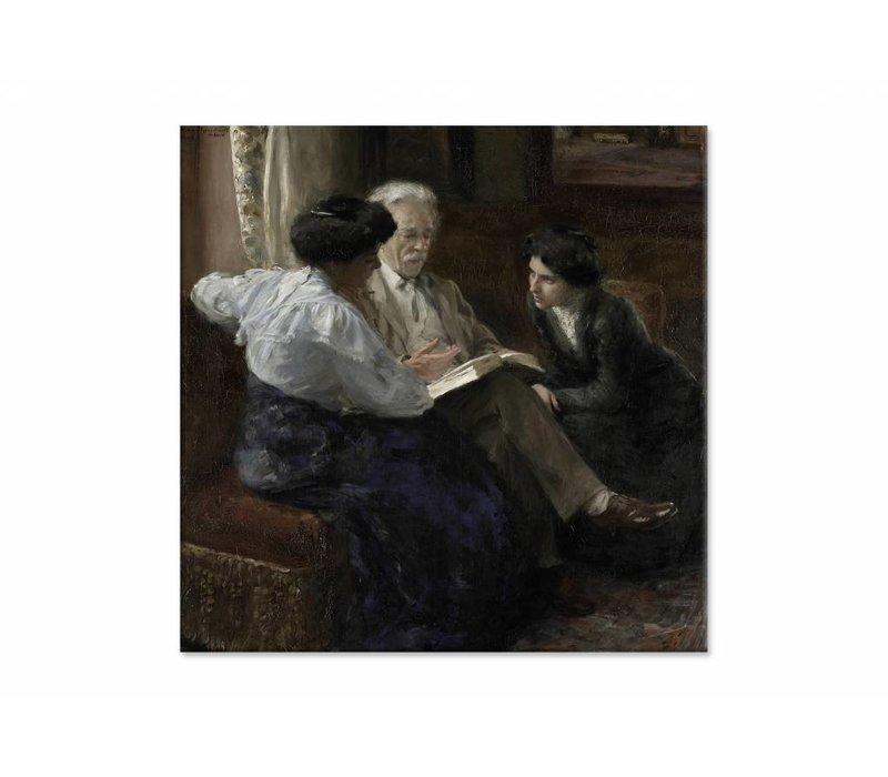 Alphons Marie Antoine Joseph • vierkante afdruk op canvas