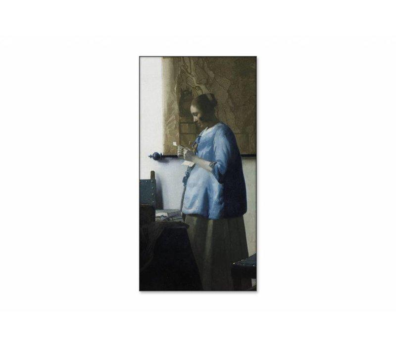 Brieflezende vouw • staande afdruk op textiel