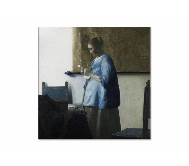 Brieflezende vouw • vierkante afdruk op canvas