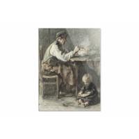 De schoenmaker • staande afdruk op plexiglas