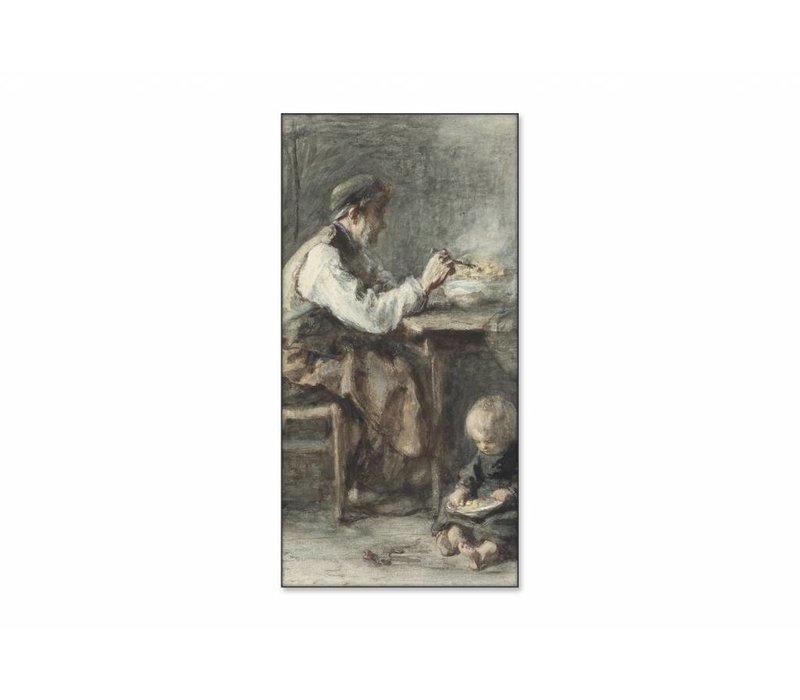 De schoenmaker • staande afdruk op textiel