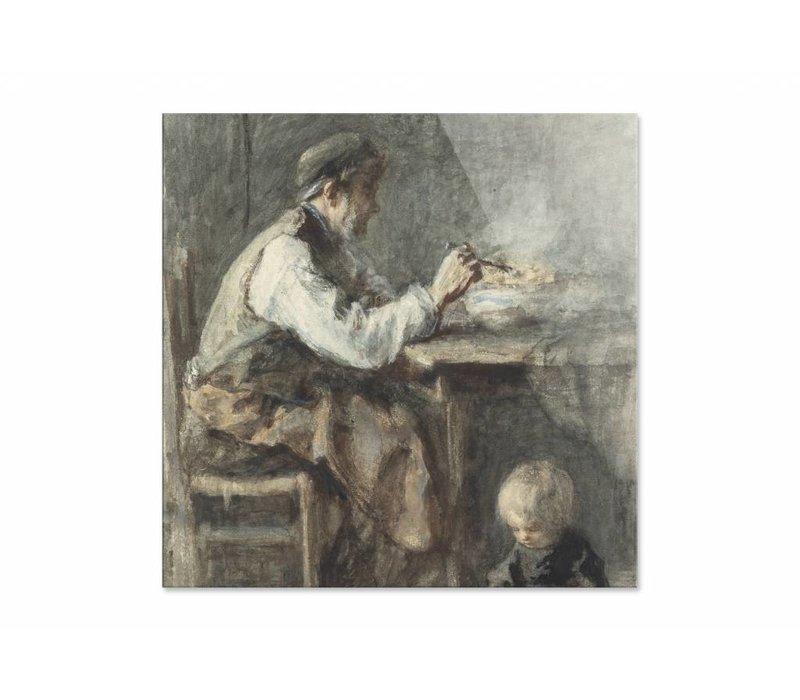 De schoenmaker • vierkante afdruk op plexiglas