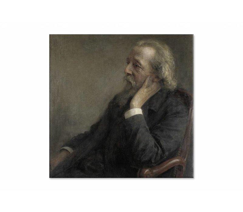 Ds Hugenholtz II • vierkante afdruk op canvas