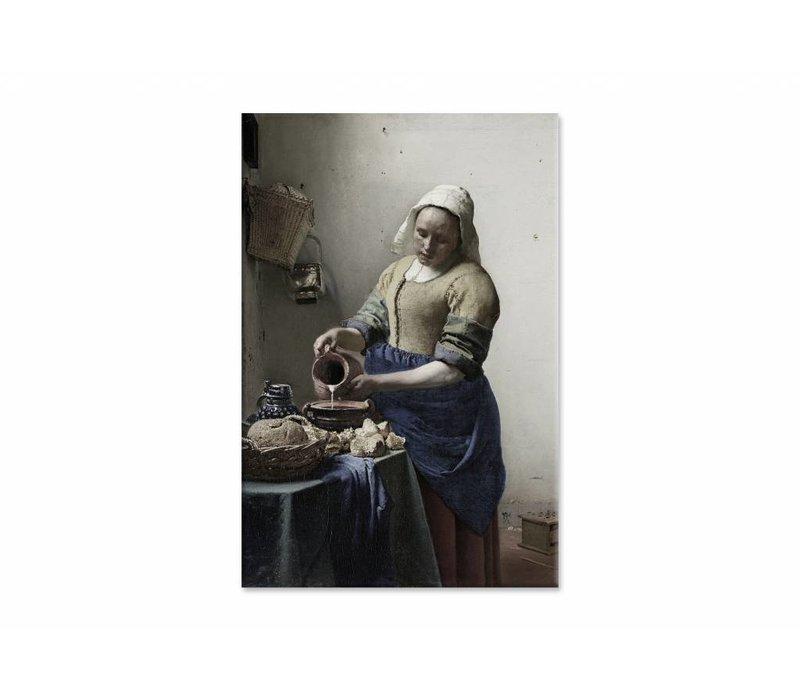 Het melkmeisje • staande afdruk op canvas