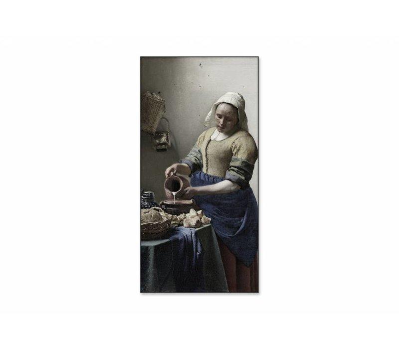 Het melkmeisje • staande afdruk op textiel