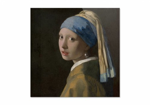 Meisje met de parel • vierkante afdruk op plexiglas