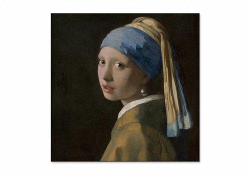 Meisje met de parel • vierkante afdruk op textiel