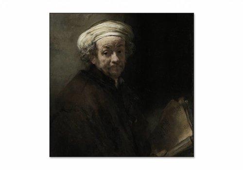 Zelfportret als de apostel Paulus • vierkante afdruk op textiel