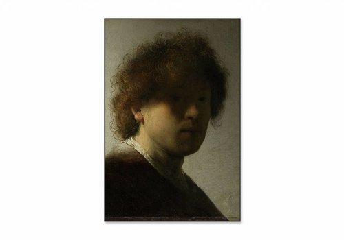Zelfportret op jeugdige leeftijd • staande afdruk op textiel