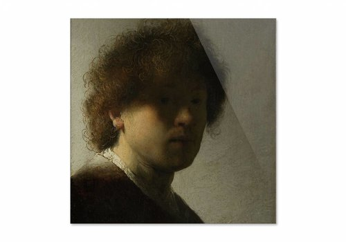 Zelfportret op jeugdige leeftijd • vierkante afdruk op plexiglas