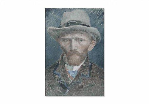 Zelfportret • staande afdruk op textiel