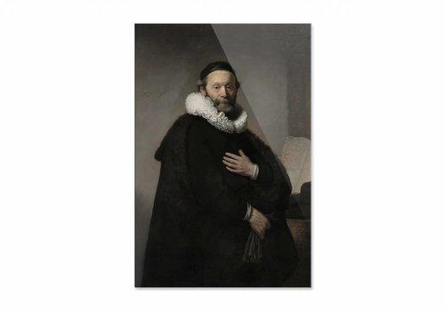 Portret van Johannes Wtenbogaert • staande afdruk op plexiglas