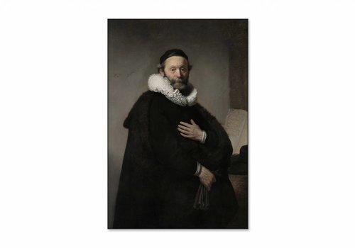 Portret van Johannes Wtenbogaert • staande afdruk op textiel