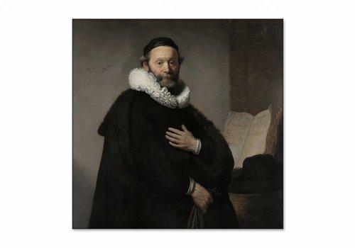 Portret van Johannes Wtenbogaert • vierkante afdruk op textiel