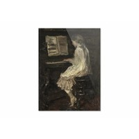 Meisje aan de piano • staande afdruk op plexiglas