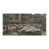 De Dam te Amsterdam • liggende afdruk op canvas