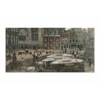 De Dam te Amsterdam • liggende afdruk op plexiglas