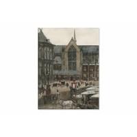 De Dam te Amsterdam • staande afdruk op canvas